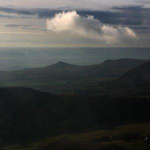 Bouřka na vrcholu Milešovka (16.11.2020 21:30)