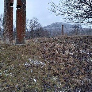 Eliška na vrcholu Milešovka (2.1.2021 12:00)