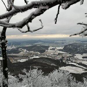 Jiří Tomaštík na vrcholu Milešovka (9.1.2021 13:19)