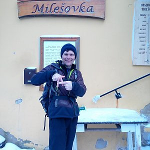 Martin na vrcholu Milešovka (23.1.2021 16:05)
