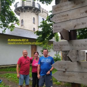 Jirka Zajko na vrcholu Milešovka (1.7.2021 11:14)