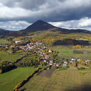 Petr Podroužek na vrcholu Milešovka (17.7.2021 9:00)