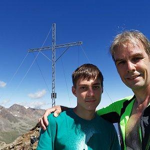 Ondra Horáček na vrcholu Hangerer (19.8.2021 11:33)
