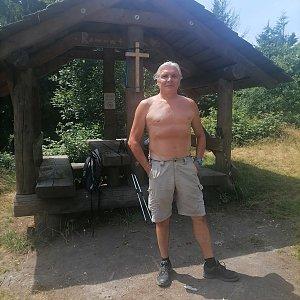 Jaroslav Hrabuška na vrcholu Girová (16.7.2021 13:30)