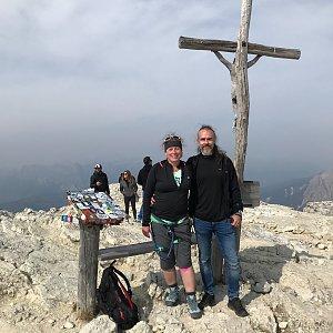 Ivetast na vrcholu Piccolo Lagazuoi (26.9.2021 11:55)