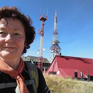 Anna na vrcholu Skrzyczne (15.9.2019 11:24)