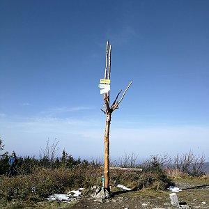 Petra Kosarkova na vrcholu Skrzyczne (22.10.2020 11:44)