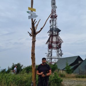 Jiří Gryz na vrcholu Skrzyczne (25.7.2021 10:15)