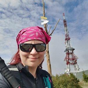 Daniela Vajsová na vrcholu Skrzyczne (28.9.2021 12:35)