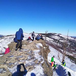Jiří Němec na vrcholu Malinowska Skala (25.1.2020 12:00)