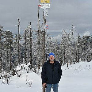 Ladislav Farý na vrcholu Malinowska Skala (15.2.2020 9:45)