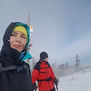 Marcela Kubíčková na vrcholu Malinowska Skala (29.2.2020 9:27)