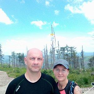 Dana + jirka na vrcholu Malinowska Skala (28.6.2020 12:30)