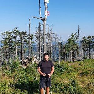 Jiří Gryz na vrcholu Malinowska Skala (26.7.2020 8:49)