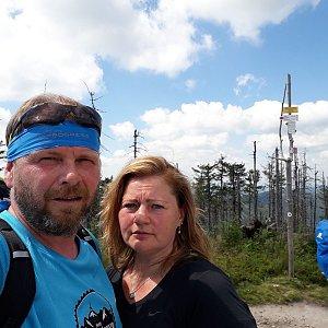 Martin a Jana Halamíčkovi na vrcholu Malinowska Skala (1.8.2020 14:03)