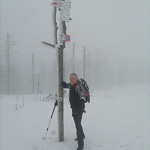 Jaroslav Hrabuška na vrcholu Malinowska Skala (19.2.2021 11:25)
