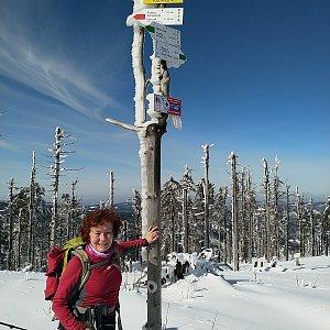 Anna na vrcholu Malinowska Skala (20.2.2021)