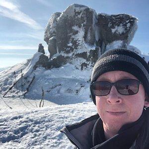 Honza Rotrekl na vrcholu Malinowska Skala (21.2.2021 10:39)