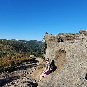 Veronika Matoušková na vrcholu Malinowska Skala (10.9.2021 17:00)