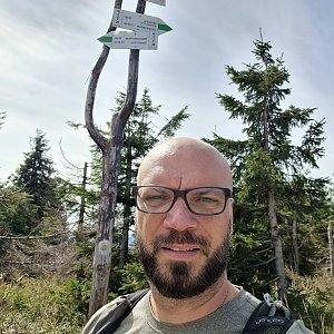Tomík na vrcholu Male Skrzyczne (5.9.2021 12:08)