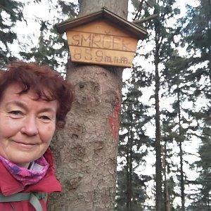 Anna na vrcholu Smrček (6.12.2020)