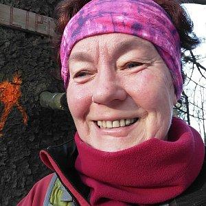 Anna na vrcholu Lipí (1.12.2019 9:43)