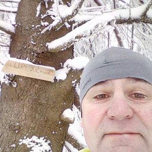 Li Be na vrcholu Lipí (16.1.2021 12:56)