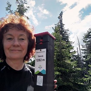 Anna na vrcholu Tabule (12.7.2020 10:58)