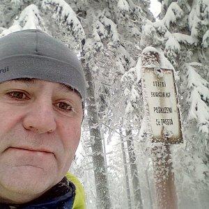 Li Be na vrcholu Ropička (16.1.2021 12:57)