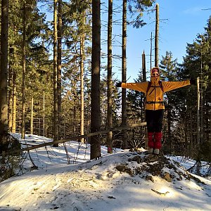 Radůza na vrcholu Ropička (10.2.2019)