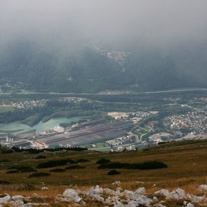 Bouřka na vrcholu Kamnitnik (3.9.2021 10:17)