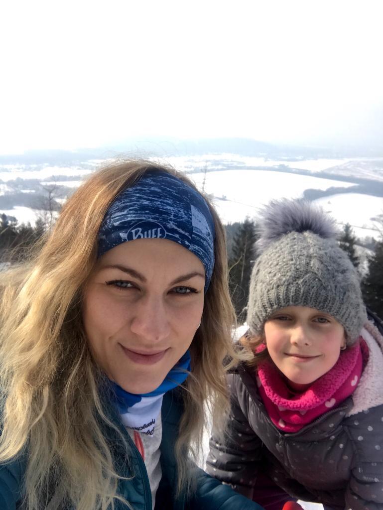 Barbora Dreslerová na vrcholu Prašivá (4.3.2018 10:54)