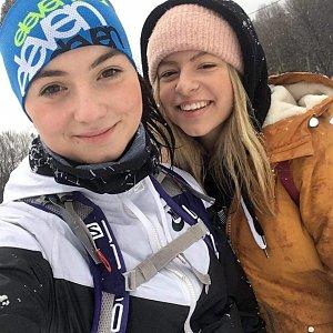 Ester Ostárková na vrcholu Prašivá (21.2.2020 9:05)