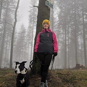 Iva Zahradilová na vrcholu Prašivá (5.2.2021 12:00)