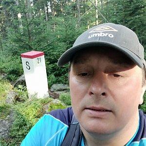 Roman Grebenar na vrcholu Muřinkový vrch (28.7.2020 7:30)