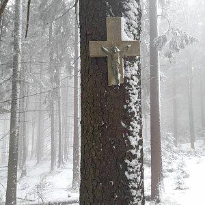 Markéta Čeníková na vrcholu Muřinkový vrch (27.2.2021 12:30)