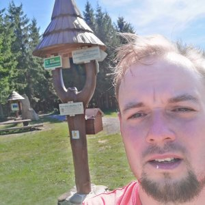 Jan Zamarski na vrcholu Muřinkový vrch (10.9.2021 12:25)