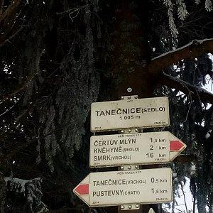 Martin Holuša na vrcholu Tanečnice - sedlo (6.2.2019 10:20)