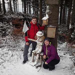 Jiřík na vrcholu Ondřejník - Vrchol (3.2.2018 16:05)