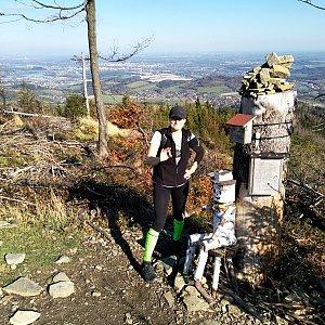 karina gasova na vrcholu Ondřejník - Vrchol (20.10.2019 11:41)