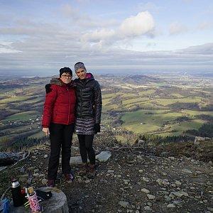 Michaela Hilscherová na vrcholu Ondřejník - Vrchol (8.12.2019 11:29)