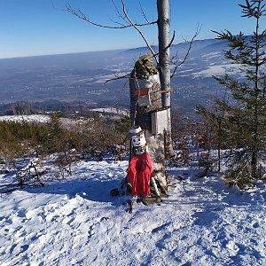 OndraCz na vrcholu Ondřejník - Vrchol (25.1.2020 11:48)