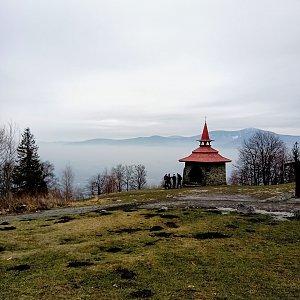 Iva Purmenská na vrcholu Ondřejník - Vrchol (18.1.2020 11:00)