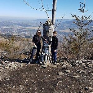 Marcela Kubíčková na vrcholu Ondřejník - Vrchol (15.3.2020 12:00)
