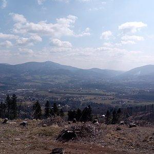 Milan Meravy na vrcholu Ondřejník - Vrchol (4.4.2020 12:34)