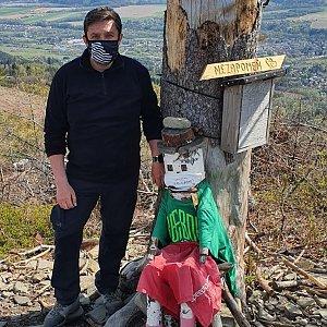 Jiří Gryz na vrcholu Ondřejník - Vrchol (26.4.2020 10:21)