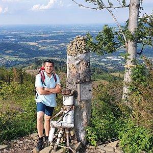 Luke na vrcholu Ondřejník - Vrchol (15.7.2020 18:08)