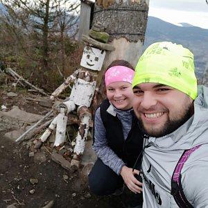 Veronika Hronková na vrcholu Ondřejník - Vrchol (14.11.2020 12:45)