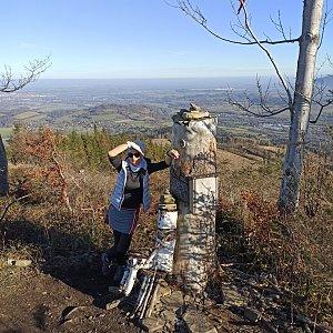 Pavlína Sýkorová na vrcholu Ondřejník - Vrchol (15.11.2020 10:40)