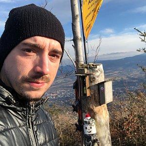 Vít Gruner na vrcholu Ondřejník - Vrchol (3.1.2021 12:20)